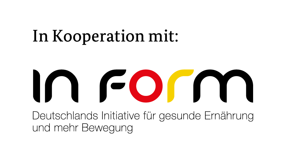 """das Logo von """"in Form"""" Deutschlands Initiative für gesunde Ernährung und mehr Bewegung"""