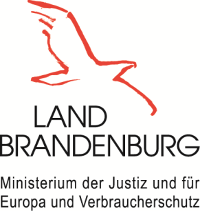Das Logo vom Ministerium der Justiz und für Europa und Verbraucherschutz des Landes Brandenburg